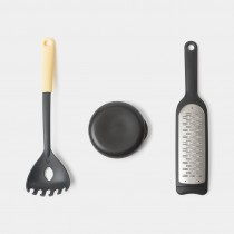 Set 3 ustensile pentru preparate italienesti Tasty Plus, inox, gri