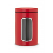 Recipient depozitare cu fereastra 1.4 l Passion Red, Brabantia